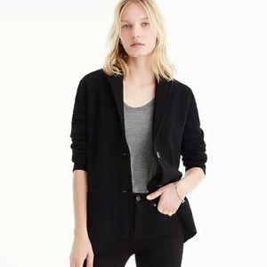 JCrew merino wool black sweater blazer size small